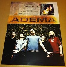 ADEMA 2000 Never Displayed PROMO POSTER for Self titled CD USA MNT 18 x 24