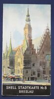 Original Prospekt Shell Stadtkarte Nr. 8 Breslau um 1930 Ortskunde Reise sf
