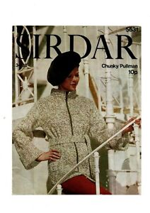 "Vintage Sirdar Chunky Pullman zipped Jacket 34-38"" No 5631"