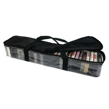 Evelots® Cassette Tape Storage Carry Case, Stores Up To 30 Cassettes