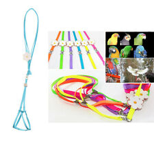 2 Pack Outdoor Parrot Rope Pet Leash Adjustable Bird Harness S Purple Blue