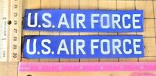 USAF Air Force Tape Tab Patch lot of 2 military uniform pocket set BLUE