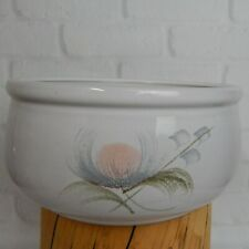 """Denby Whisper Pattern Round Serving Bowl Peach Gray England Discontinued 7.5"""""""