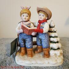 "Homco Denim Days figurine #15341-98 ""Let's Go Caroling"" 1998"