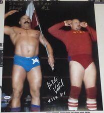 Iron Sheik Nikolai Volkoff Signed WWE 16x20 Photo PSA/DNA COA Picture Autograph