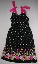 Bonnie Jean NEW girls sun dress size 5 flowers butterflies clothes pink black