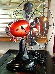"Vintage 1950's Westinghouse ""FIRE BALL"" Electric Fan Art Deco, Refurbished"
