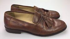 Johnston Murphy Horner Brown Tan Leather Tassel Loafer 15 1346 Shoes Mens 10.5 M