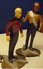 2  STAR TREK Next Generation Captain Picard & Worf PVC action figures