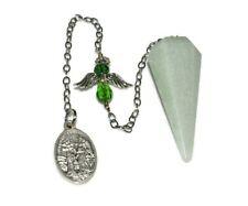 Green Aventurine Guardian Angel Pendulum Dowsing Chakra Reiki Natural Crystal