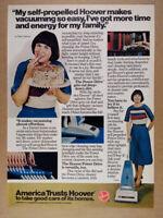 1978 Hoover Power Drive Self-propelled Vacuum Cleaner vintage print Ad
