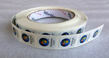 Lot of 10 Original Windows Vista Replacement Stickers 16mm x 21mm