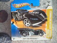 Hot Wheels 2011 #024/244 Arkham Asylum Noir Batmobile Première Édition