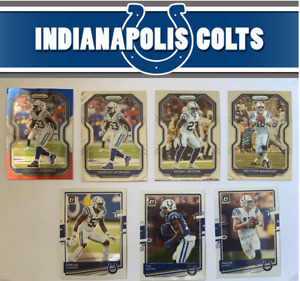 NFL Football 2020 Panini Prizm & Optic Card Lot Indianapolis Colts 7 cards