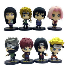 8pcs Uzumaki Naruto Uchiha Sasuke Hatake Kakashi Gaara Itachi Figur Figuren