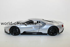 Maisto 31384 Silver Ford GT Year 2017 1:18 NEW WITH ORIGINAL BOX