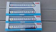 Lot de 4 Voitures Corail SNCF TER Bourgogne piko VTU Ep.VI 58639 58638 HO 1/87