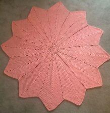 """New! Crocheted Starburst Afghan - 64"""""""