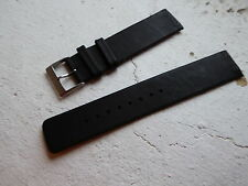 Gent's SKAGEN 132UGL Black Leather Watch Strap / Replacement Strap 18mm