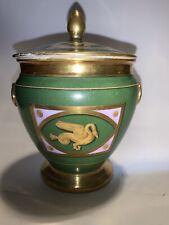 A Paris Halley Porcelain Sugar Bowl  Continental Style?
