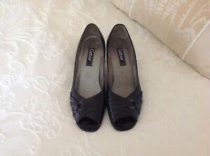 Ladies Gabor Open Toe Court Shoe Size 5.5
