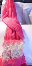 J Francis - Hot Pink Viscose Scarf (72x28 in) Brand New  #8