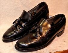 vintage Stafford Brogue Wingtip Tassel Loafer Dress Shoes Men`s 9 1/2 D/B