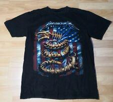 "Metallica ""Dragon US Flag Comic"" T-shirt Size Large RARE"