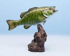 "Small Mouth Bass Fish Mount, Replica, freshwater Fiberglass Fish, Taxidermy 12"""