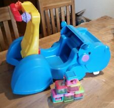 fisher price peek a block Lauflernwagen Nilpferd