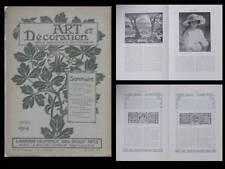 ART ET DECORATION 1914 - HENRI LEBASQUE, ADOLPHE GIRALDON, DORIGNAC, SELMERSHEIM