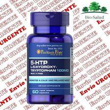 5-HTP TRIPTOFANO 100mg/60cps. Serotonina Antidepresivo Puritans