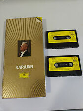 KARAJAN BEETHOVEN SYMPHONIEN 5 & 9 - DOBLE 2 X CINTA CASSETTE TAPE LONG BOX