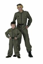 MENS LADIES US AIRFORCE FLYING SUIT FANCY DRESS JET FIGHTER PILOT COSTUME NEW XL