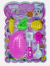 6-pc Kitchen play set with toy fruit and vegetables. Great gift for children