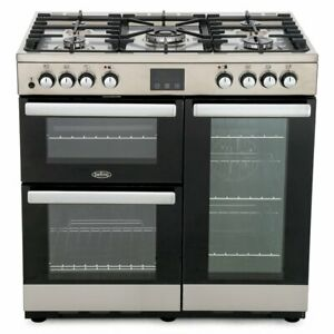 Belling Cookcentre 90DFT Stainless Steel 90cm Dual Fuel Range Cooker