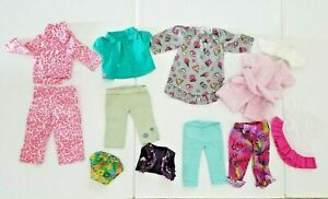 """18"""" 16"""" Doll Clothes Pajamas Vest Outfits for American Girl, OG, 12 Piece Lot"""