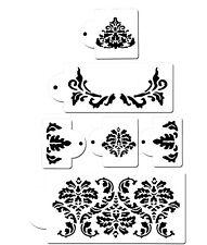 6 Piece Cake decorating Airbrush Icing Frosting Fondant Elegant Lace Stencils