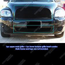 Custom Fits 2006-2011 Chevy HHR Black Billet Grill Combo
