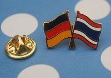 Freundschaftspin Deutschland Thailand Pin Button Badge Anstecker Anstecknadel AS