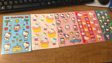 2005 TO 2007 VINTAGE SANRIO HELLO KITTY STICKERS NEW 5 SHEETS