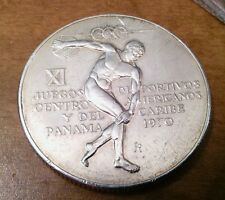 Panama 5 Balboa 1970, Eleventh Central American and Caribbean Games Large Silver