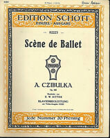 A. Czibulka - Scène de Ballet Op.286 ~ alte, übergroße Noten, Piano und Violine