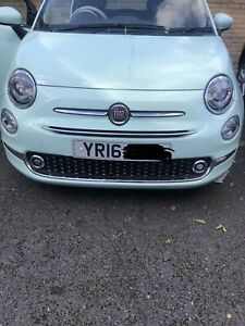 2016 Fiat 500 Complete front end in  pastel green