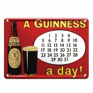 Guinness Metal Heritage Calendar Sign