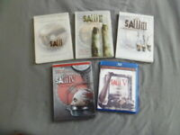 Saw 1-5 Collection Lot of 5 Individual DVD & BluRay ~Tobin Bell ~Donnie Wahlberg
