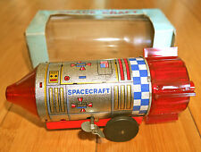 Vintage Mecánico espacio Craft Juguete Raro 1969 Daiya en Caja Clockwork Hojalata