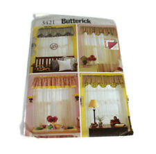 Sewing Pattern Butterick 3421 Reversible Valances Curtains Vtg