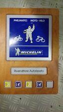 targa insegna rivenditore autorizzato michelin pneumatici moto velo in legno