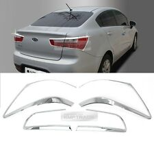 Chrome Rear Tail Light Lamp Molding Garnish Cover for KIA 12-17 Rio Pride Sedan